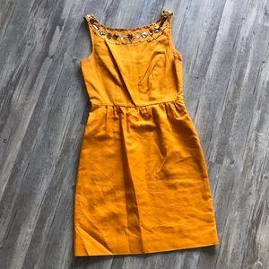 Gorgeous Orange J. Crew Embellished Dress, size 4